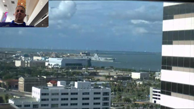 View of the Corpus Christi Bay from the High Touch office