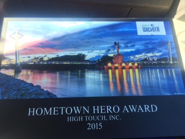 Visit Wichita Hometown Hero Aaward