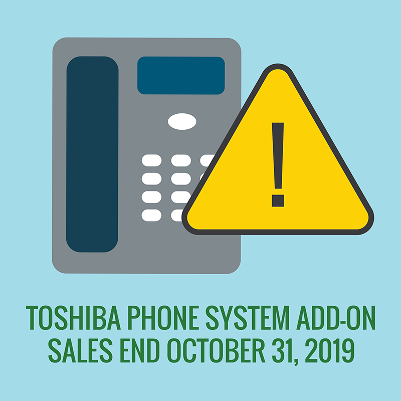 Toshiba end of add-on sales