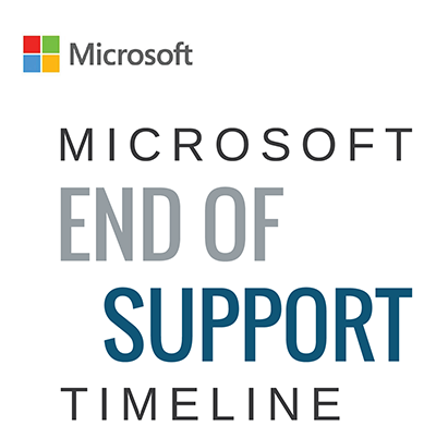 Microsoft end of support graphic