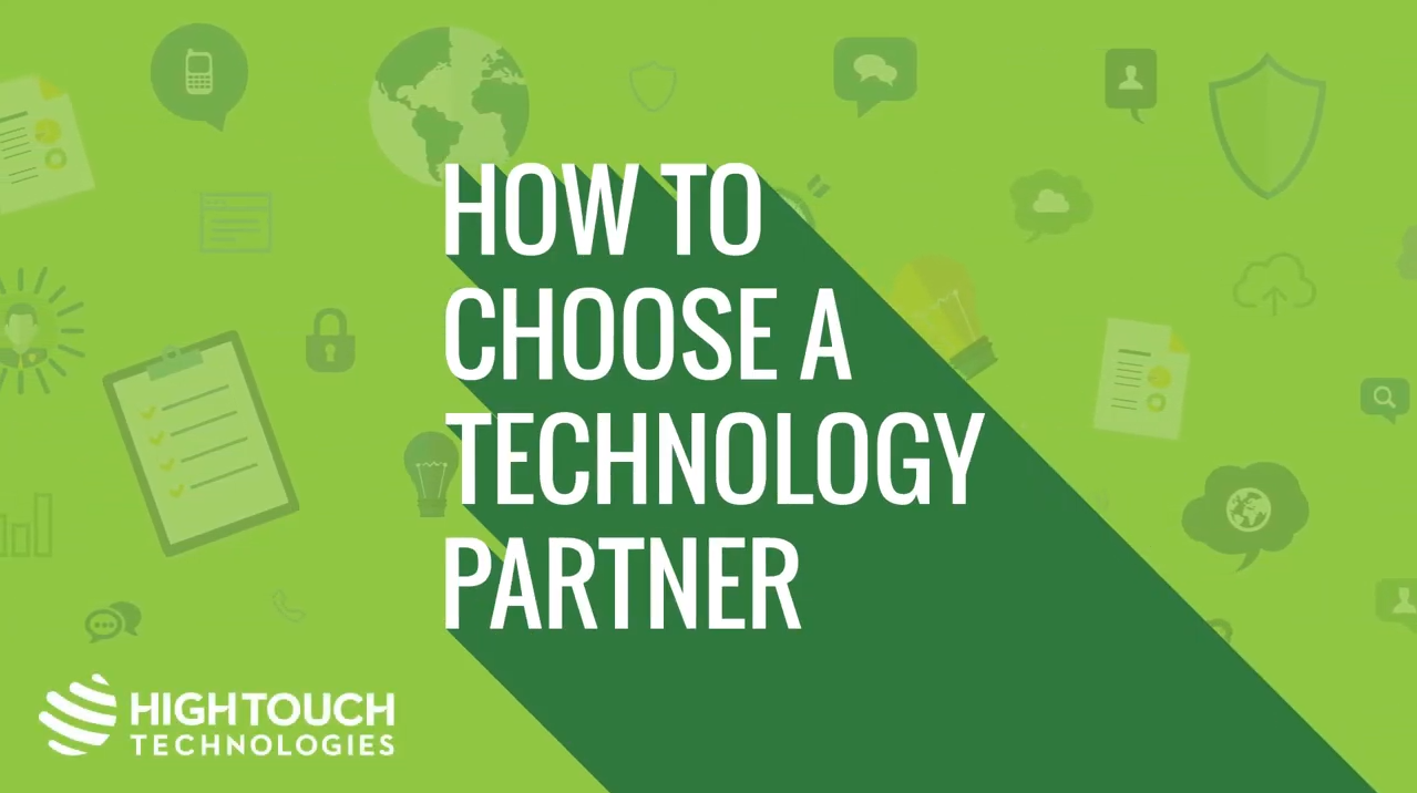 How to Choose a Technology Partner
